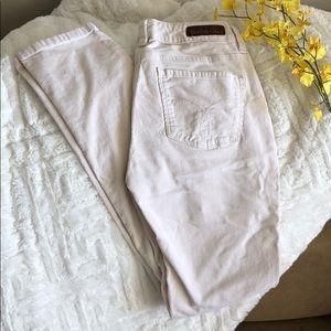 CK Jeans size 26/2 ivory corduroy skinny leg pants